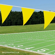 YELLOW School Sports Day Bunting / team event Bunting in YELLOW (Single 10 mtr. length)